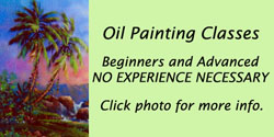 Click to open printable flyer for oil painting classes at Gallery Haiku